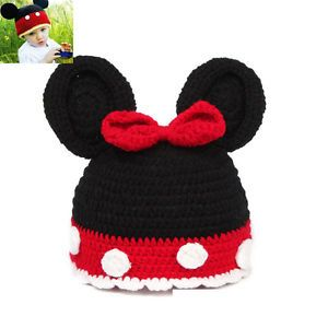 Cute Baby Boy Girl Mickey Hat Knit Crochet Clothes Photo Prop for 3 10 Year