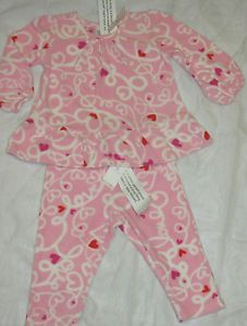 Infant Baby Girls Clothing Toddler 12 18 Months Gap Lot 2 PC Pink Pajamas