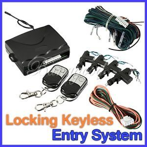 Car Kit Power 4 Door Lock Central Alarm Security Locking Keyless Entry 2 Remote