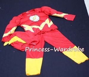 Muscle Flash Hero Outfit Boys Kids Child Party Costume Present Gift 2 7Year