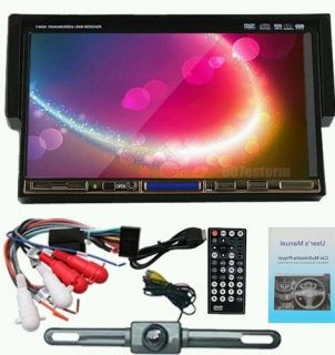 "Single 1 DIN 7"" Car DVD CD  Player Touch Screen in Dash Stereo Radio Camera"