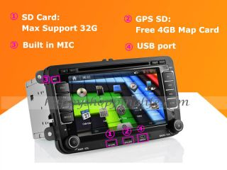 Car DVD Player GPS Navigation for VW Golf Passat Polo Skoda Octavia Seat Altea