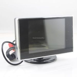 "Mini 3 5"" TFT LCD Car Monitor for Rear View Reverse Backup Camera CCTV DVD VCR"