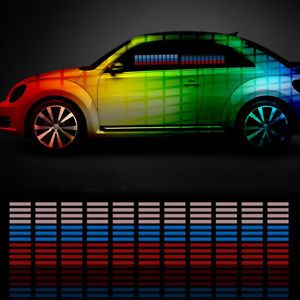45x11 Car Sticker Music Rhythm LED Flash Lamp Sound Activated Equalizer 9 Colors