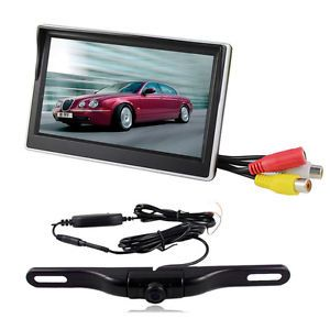 5 inch TFT LCD Car Rear View Backup Camera Monitor HD Wireless Night Vision