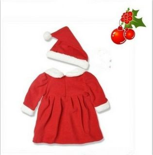 Beautiful and Lovely Baby Girls Christmas Dress Skirt Christmas Hat Suits