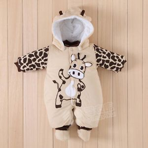 Baby Girls Boys Romper Coverall Clothes 1 Piece Autumn Winter Size 0 12M AAAAAA3