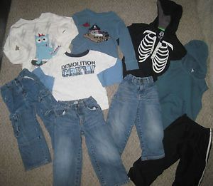 Toddler Boy 9 PC Clothing Lot 3T 4T 3 4 Shirts Jeans Hoodie Gymboree Crazy 8 On