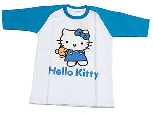 New Baby Toddler Kids Girls T Shirt Clothes Hello Kitty Summer Softball Design