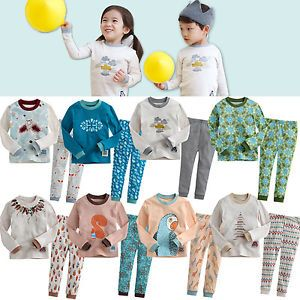 "Korea 2pcs Baby Toddler Kid Girl Boy Clothes Sleepwear Pajama Set""Mimir 8"""
