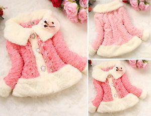 Junoesque Baby Girls Toddler Faux Fur Coat Kids Winter Jackets Snowsuit Clothing