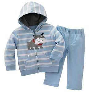 Carters Baby Boy Clothes 2 Piece Set Blue Gray Dog 3 6 9 12 18 24 Months