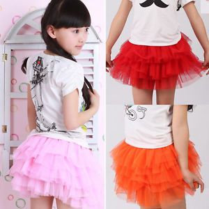 Toddler Girl's Dancing Party Sweet Princess Fluffy 6 Layers Tutu Dance Skirt J06