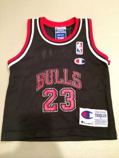 Champion Chicago Bulls Michael Jordan 23 NBA Jersey Tank 2T NBA Logo Man Patch