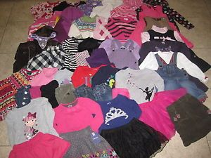 Toddler Girls Lot of 51 Fall Winter Clothes Outfits Sets Dresses Jeans Size 3T