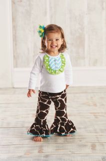 Mud Pie Adorable Baby Girl Wild Child Giraffe Disco Set Multiple Sizes 190131