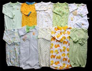 Baby Boy Girl Neutral 0 3 0 6 0 9 Months Sleep Sack Gown Pajama Clothes Lot