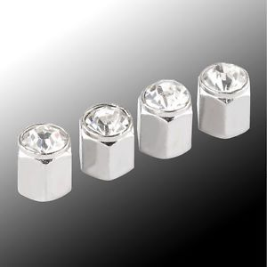 4pcs Set Car Tire Tyre Wheel Valve Stems Caps Covers for Car Auto Chrome White
