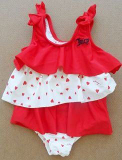 Juicy Couture Baby Girl Designer Swimsuit Bathing Suit Beachwear New $68 Tax