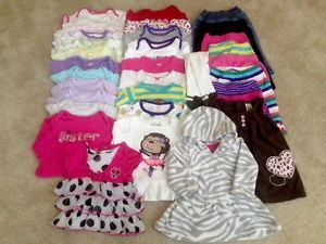 Baby Girl 6 Months Winter Fall Spring Clothes Lot Onesies Outfits