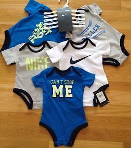 Nike Baby Boy Bodysuit Shirt Clothes Lot 5 PC Size 0 3M $48 00 New