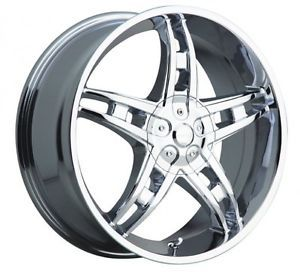 "18"" Akuza Genesis 5x108 5x4 5 Chrome 45 18x7 5 Wheels Rims"