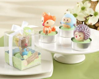 Baby Shower Favors Woodland Animal Candles Set of 4 Baby Shower Candle Favors