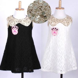 Kids Girls Baby Princess Elegant Dress Party Wedding Pageant Lace 1 6 Years