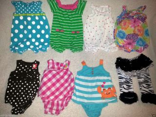 Huge 120 Piece Lot of Spring Summer Fall Baby Toddler Girl CLOTHES12 MO Month
