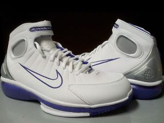 511425 115 Mens Nike Air Zoom Huarache 2K4 Kobe Basketball White Pure Purple