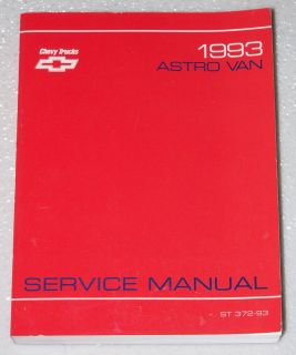1993 Chevy Astro Van Service Manual Mini Van Cargo Factory Dealer Shop Repair
