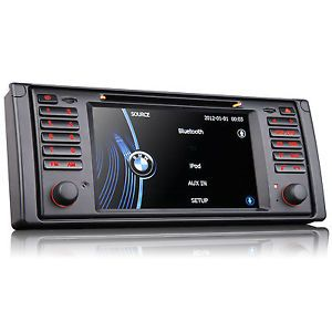 BMW 5 Series E39 Car DVD Player GPS Navigation in Dash Stereo Radio System RDS