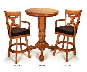 Pub Table Chair Bar Stool Set for Billiard Pool Room in Oak New