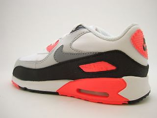 408110 137 Toddlers Little Kids Nike Air Max 90 White Clay Grey Infrared Black