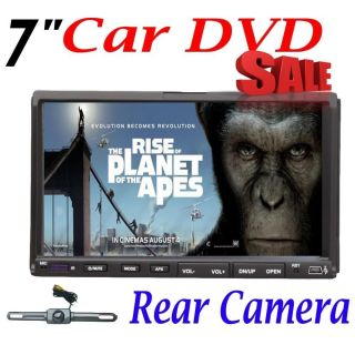 "Double DIN 7"" Touch Screen DVD CD  Car Player RDS Radio Free Rear Camera"