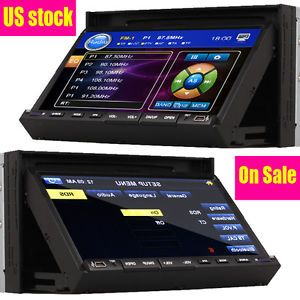 "Double 2 in 7"" inch Touch Screen Car Stereo DVD CD Am FM Player SWC Stereo Radio"