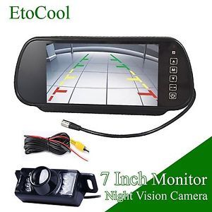 "7""TFT LCD Car Rear View Monitor Mirror Backup Night Vision Waterproof Camera"