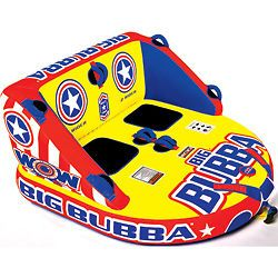 WOW Big Bubba Inflatable Towable Water Tube Toy 2 Rider
