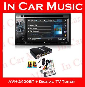 Pioneer 2 DIN Bluetooth Car DVD Media Player Digital Freeview DVB T TV Tuner