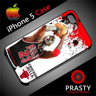 Michael Jordan Chicago Bull Basketball Fans Cover New Black iPhone 5 Case