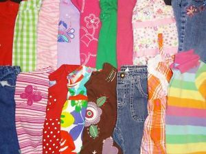 30 Pieces Baby Girl Clothes Lot Size 24 Months 2T Colorful Outfits