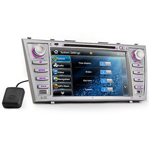 "Toyota Camry 8"" in Dash 2 DIN Car GPS Nav Stereo DVD Player Bluetooth iPod Radio"