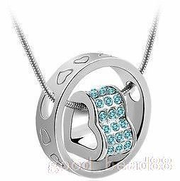 Fashion Beautiful Swarovski Crystal Pendant Necklace Options 5 Colur 4113