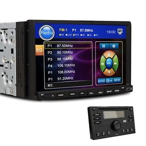 "Auto Car Stereo DVD Player 7"" Touch Screen 2 DIN in Dash Radio"