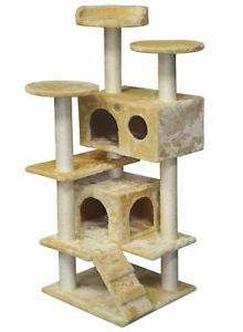 "53"" Cat Tree House Toy Bed Scratcher Post Furniture F2024"