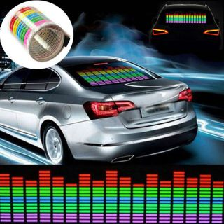 1pc Newest Car Sticker Music Rhythm LED Flash Lamp Sound Activated Equalizer