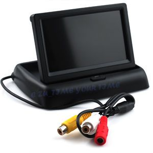 4 3'' TFT LCD Foldable Car Back Up Monitor Vehicle Camera Monitor Input