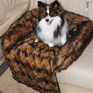 Maxam Pet Club Faux Mink Car Seat Couch Chair Cover Dog Cat Bed New