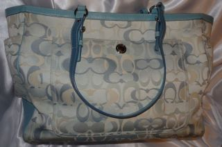 Coach Baby Bag Diaper Bag in Silver Blue Optic