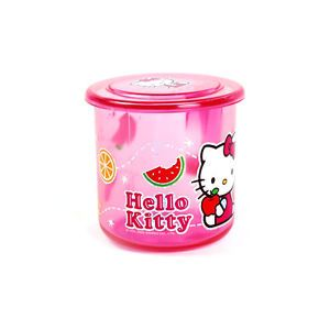 Sanrio Licensed Hello Kitty Clear Pink Kids Drinking Drink Cup Mug with Lid